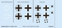 EDUARD DECALS  1/48 Fw 190A-6 national insignia for EDU