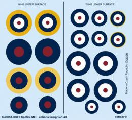 EDUARD DECALS  1/48 Spitfire Mk.I national insignia for EDU