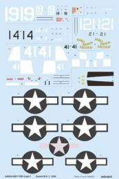 EDUARD DECALS  1/48 F6F-3 part 1 for EDU