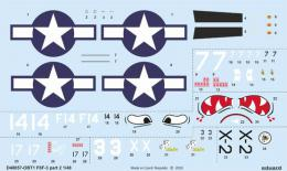 EDUARD Decals 1/48 F6F-3 Hellcat  part 2 for EDU
