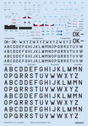 DECALS 1/72  Z-37 stencils,code letters&labels  for EDU