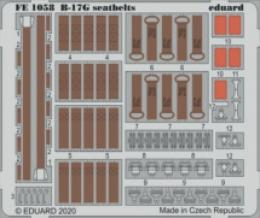 EDUARD ZOOM 1/48 B-17G Flying Fortress  seatbelts STEEL for HKM