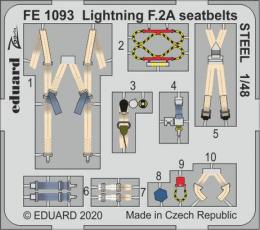 EDUARD ZOOM 1/48 Lightning F.2A seatbelts STEEL for AIR