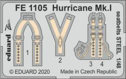 EDUARD ZOOM 1/48 Hurricane Mk.I seatbelts STEEL for AIR - zvìtšit obrázek