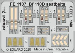 EDUARD ZOOM 1/48 Bf 110D seatbelts STEEL for DRA