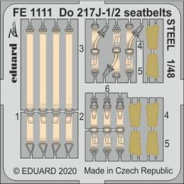 EDUARD ZOOM 1/48 Do 217J-1/2 seatbelts STEEL for ICM