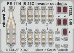 EDUARD ZOOM 1/48 B-26C Invader seatbelts STEEL for ICM