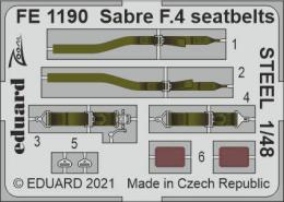 EDUARD ZOOM 1/48 Sabre F.4 seatbelts STEEL for AIR