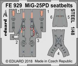 EDUARD ZOOM 1/48 MiG-25PD seatbelts STEEL for ICM