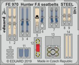 EDUARD ZOOM 1/48 Hunter F.6 seatbelts STEEL for AIR