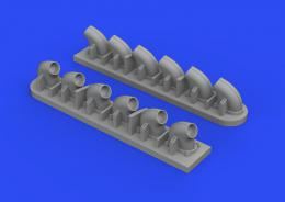 EDUARD BRASSIN 1/32 P-40E exhaust stacks for TRU