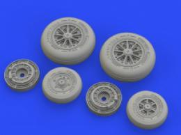 EDUARD BRASSIN 1/48 F-104 Starfighter wheels late for KIN