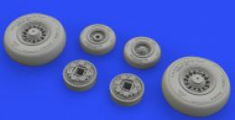 EDUARD BRASSIN 1/48 F-14D Tomcat  wheels for AMK