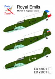 EXOTIC DECALS 1/48 Royal Emils - Me 109 in Yougoslav service