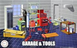 FUJIMI 1/24 Garage and Tool