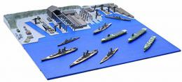 FUJIMI NO.3 1/3000 Kure Naval Port (In This Corner (and Other Corners) of the World) IJN Heavy Cruiser Aoba Package