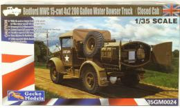 GECKO 1/35 Bedford MWC 15-cwt 4x2 200 Gallon Water Bowser Truck (Closed Cab)