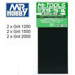 GUNZE Mr.Waterproof MT-302  Sand Paper Set Fine 3X2