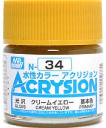 GUNZE Mr. Acrysion N034 Cream Yellow