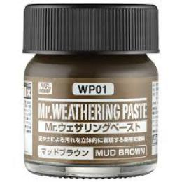 GUNZE Mr.Weathering Paste WP01 Mud Brown 40 ml