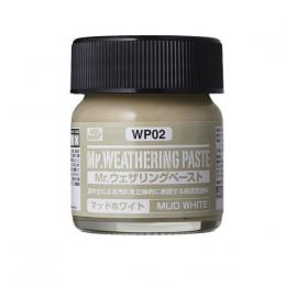 GUNZE Mr.Weathering Paste WP02 Mud White 40 ml