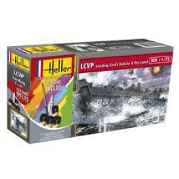 HELLER 1/72 Starter Set - LCVP LandingCraft V+fIg