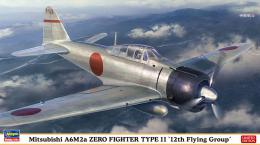 HASEGAWA 1/48 Mitsubishi A6M2a Zero Fighter Type 11 12th Flying Group