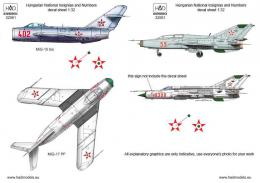 HAD 1/32 Decal Hungarian insignias & numbers (MiGs 15-23)