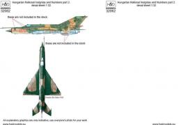 HAD 1/32 Decal Hungarian insignias & numbers (MiG-21)