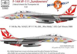 HAD 1/32 Decal F-14A Miss Molly (set of 32065+32068) - zvìtšit obrázek