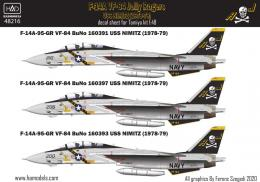 1/48 Decal F-14A Tomcat  VF84 Jolly Rogers, 1978-79