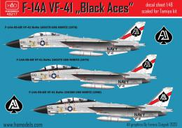 1/48 Decal F-14A Tomcat VF-41 Black Aces