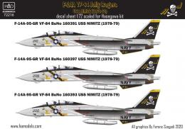 1/72 Decal F-14A Tomcat VF-84 Jolly Rogers, 1978-79
