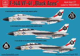 1/72 Decal F-14A Tomcat VF-41 Black Aces