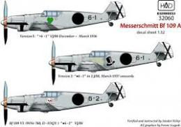 HAD Decals 1/32  Messerschmitt Bf 109A (3x camo)