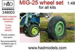 HAD Resin 1/48 MiG-25 wheel set for KTH