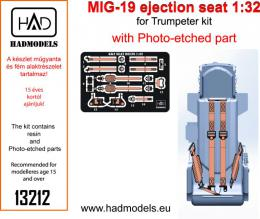 HAD Resin 1/32 MiG-19 Ejection seat w/PE set for TRU