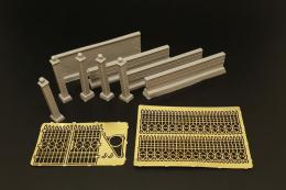 HAULER 1/72 Castle fence  resin set