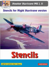 HM DECALS 1/32 Stencils Hawker Hurricane Mk/I/II Night version