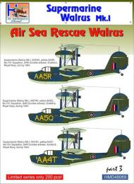 HM DECALS 1/72 Decals Supermarine Walrus MkI Air Sea Rescue