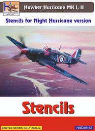 HM DECALS 1/48 Stencils Hawker Hurricane Mk/I/II Night version