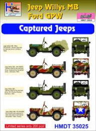 HM DECALS 1/35  Jeep Willys MB/Ford GPW Captured Jeeps