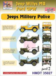 HM DECALS 1/35  Jeep Willys MB/Ford GPW Military Police 2
