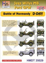 HM DECALS 1/35  Jeep Willys MB/Ford GPW Normandy D-Day
