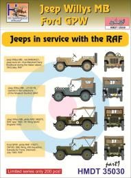 HM DECALS 1/35  Jeep Willys MB/Ford GPW in RAF service 1