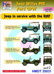 HM DECALS 1/35  Jeep Willys MB/Ford GPW in RAF service 2