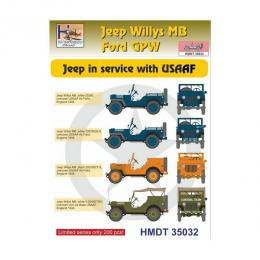 HM DECALS 1/35  Jeep Willys MB/Ford GPW in USAAF service