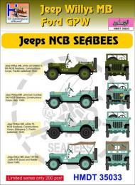 HM DECALS 1/35  Jeep Willys MB/Ford GPW NCB SEABEES
