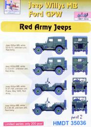 HM DECALS 1/35  Jeep Willys MB/Ford GPW Red Army 2