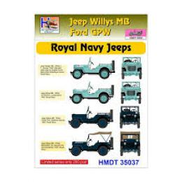 HM DECALS 1/35  Jeep Willys MB/Ford GPW Royal Navy